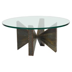 Welded Steel Circular Coffee Table by Paul Evans for Directional