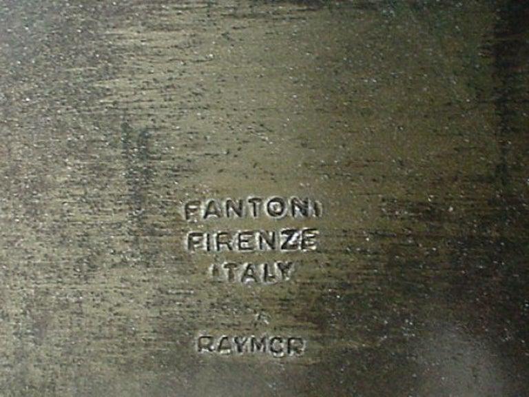 Welded Steel Lamp by Marcello Fantoni for Raymor For Sale 1