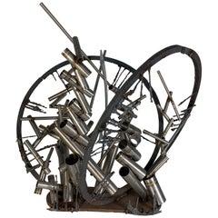 "Welded Steel Sculpture ""Gates"" by D. Phillips"