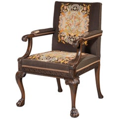 Well Carved Mahogany Framed Gainsborough Type Chair