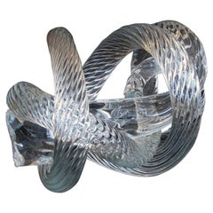 Well-Crafted and Heavy Glass Rope Knot by Fusion Z Glassworks; Etched Signature