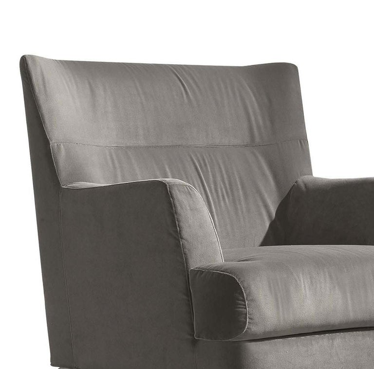 Italian Well Gray Armchair For Sale