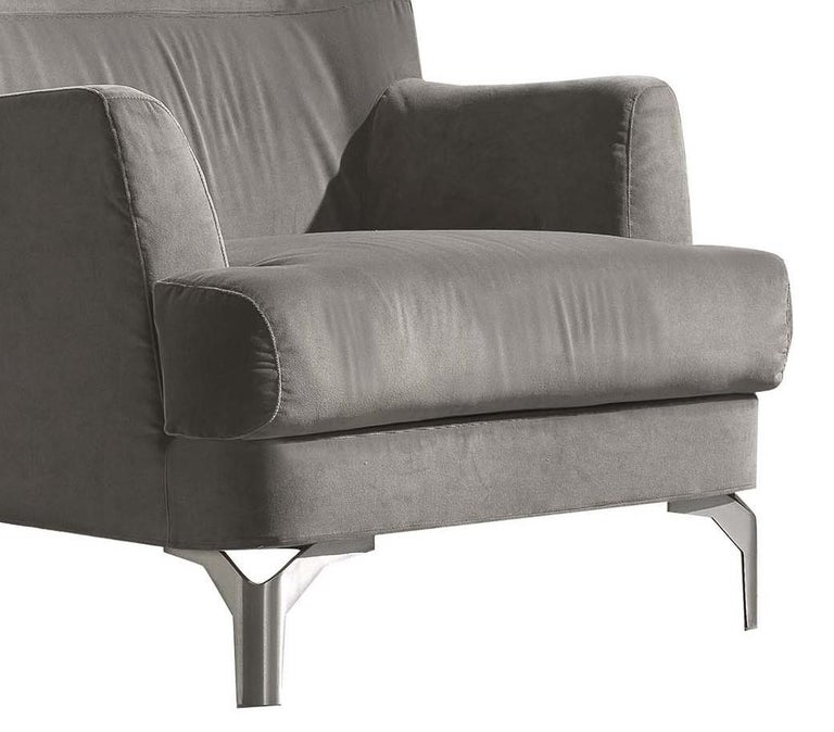 Well Gray Armchair In New Condition For Sale In Milan, IT