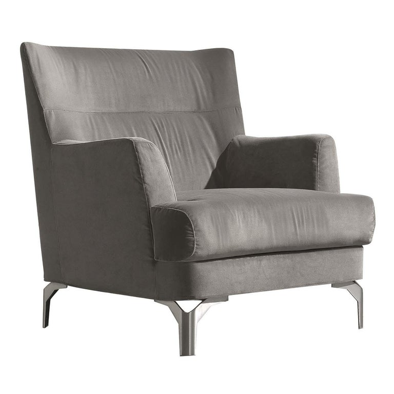 Well Gray Armchair For Sale at 1stdibs