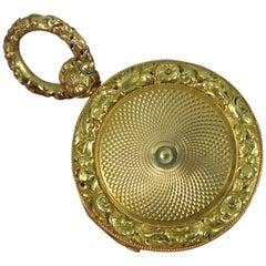 Well Made Georgian Era Solid 14 Carat Gold Locket Pendant