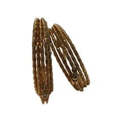 "Wellendorff ""Brilliance of the Sun"" 18 Karat Yellow Gold Hoop Earrings"
