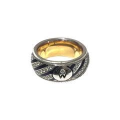 Wellendorff Ladies Diamond and Enamel Ring 66608