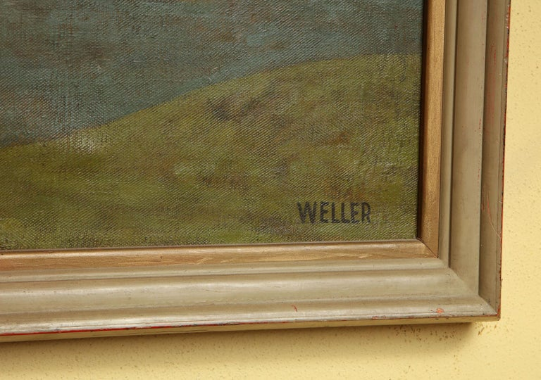 Weller Painting Composed of Futurist Organic Forms, 1940s For Sale 7