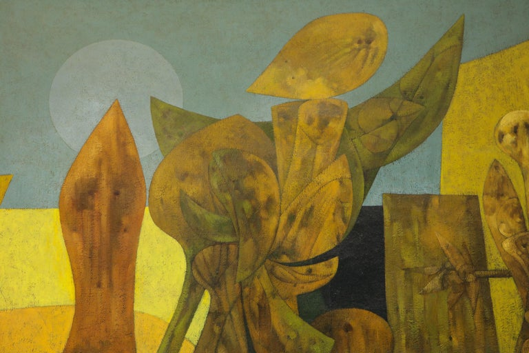 Weller Painting Composed of Futurist Organic Forms, 1940s For Sale 1