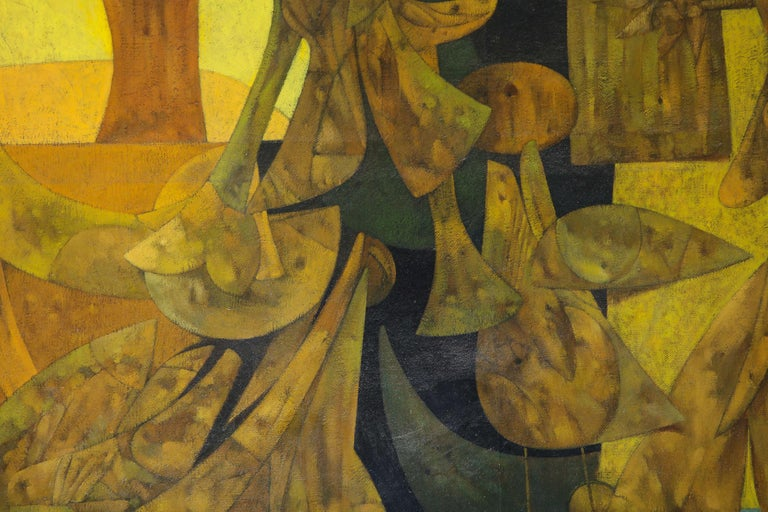 Weller Painting Composed of Futurist Organic Forms, 1940s For Sale 2