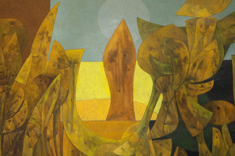 Weller Painting Composed of Futurist Organic Forms, 1940s For Sale 3