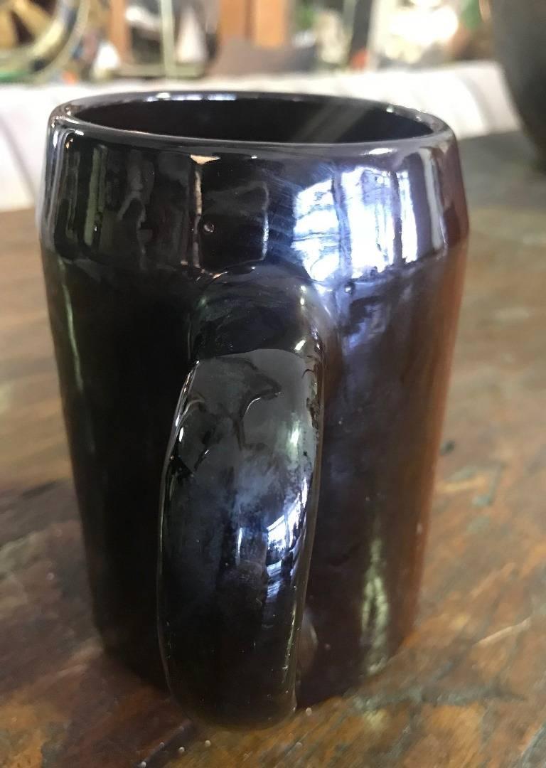 American Weller Pottery Louwelsa Mushroom Cup or Mug For Sale