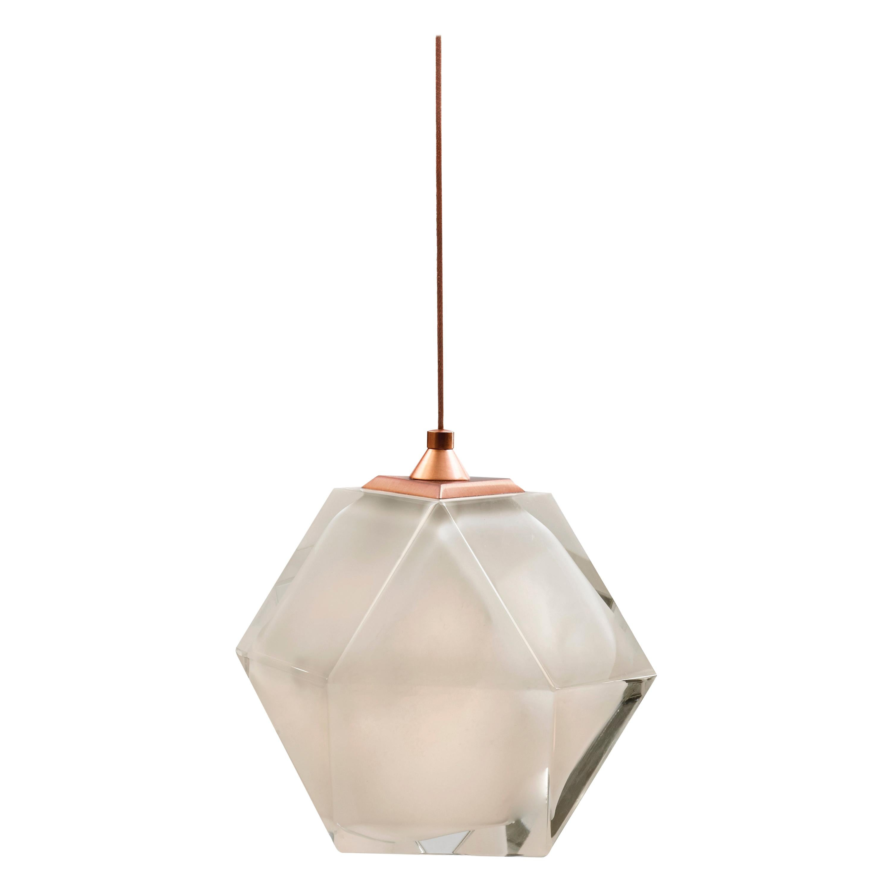 Welles Double Blown Glass Hanging Sconce in Alabaster White by Gabriel Scott