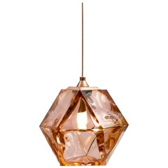 Welles Double Blown Glass Hanging Sconce in California Pink by Gabriel Scott