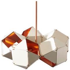 Welles Steel 5-Spoke Pendant in White by Gabriel Scott