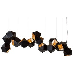 Welles Steel Long Chandelier in Black by Gabriel Scott