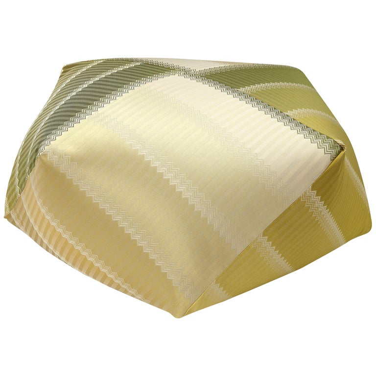 For Sale: Gold (1P4LV00101-P261 (162)) Wells Reversible Patchwork Jacquard Diamante Pouf by MissoniHome