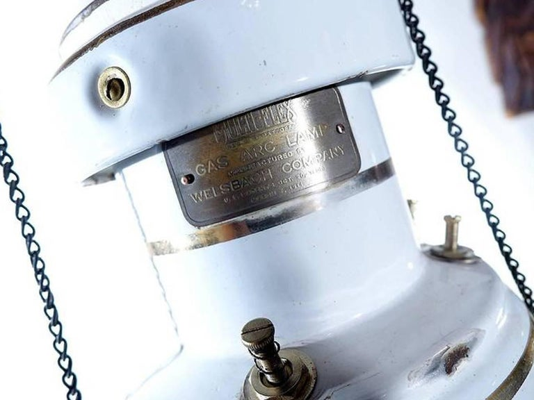 Industrial Welsbach Gas Arc Lamp, Newly Wired