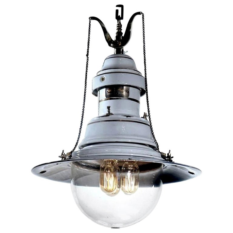 Welsbach Gas Arc Lamp, Newly Wired