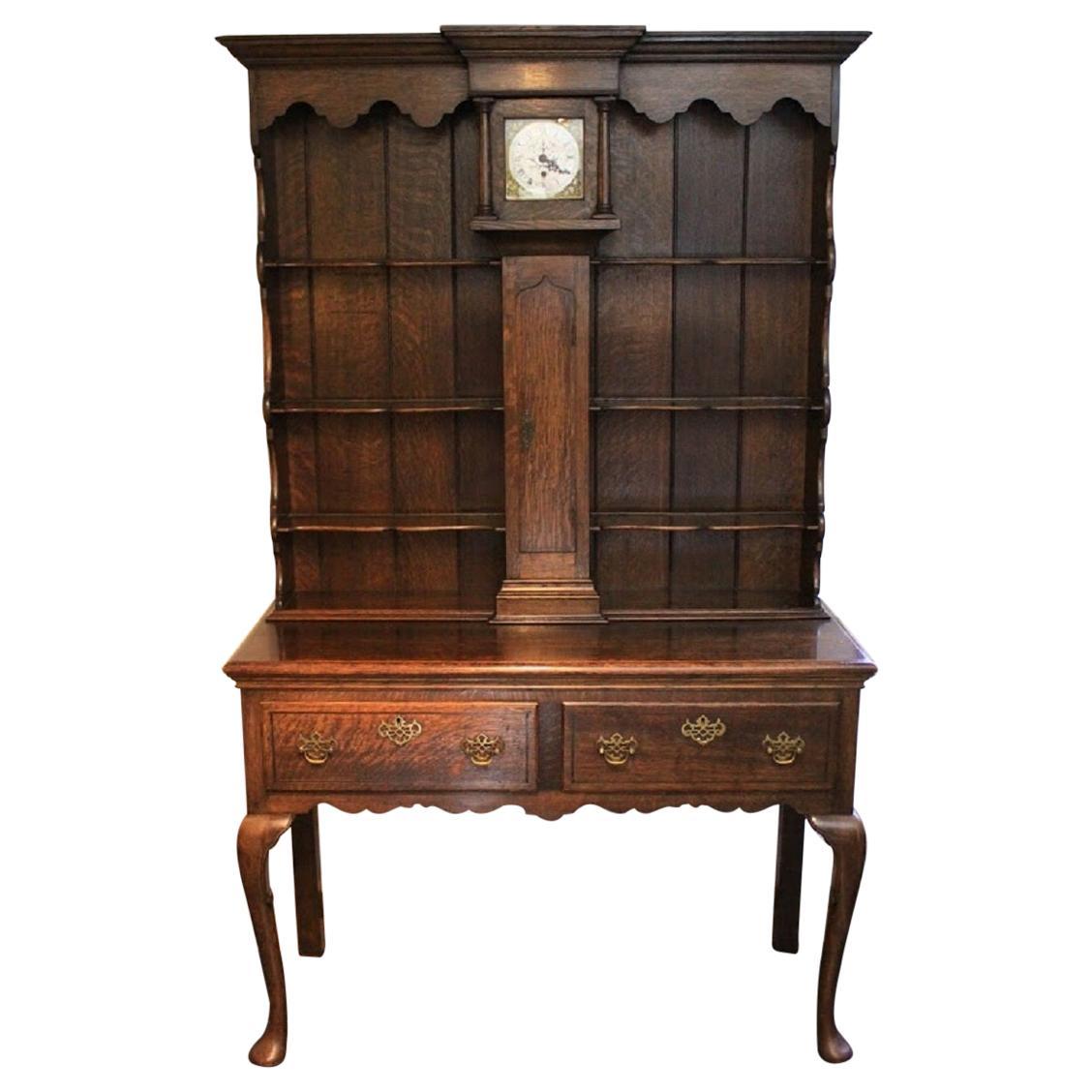 Welsh Oak Dresser with Clock