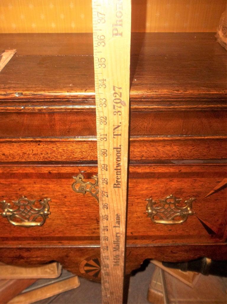 Welsh or English Inlaid Oak Dresser Base Sideboard With Mahogany Banding  2