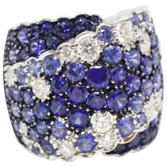 Wempe Sapphire and Diamond Cocktail Ring