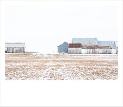 Barns I- color photograph of agricultural building in Idaho framed