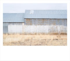 Painted Barn I- color photograph of agricultural building in Idaho framed