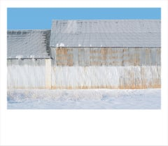 Painted Barn II- color photograph of agricultural building in Idaho framed