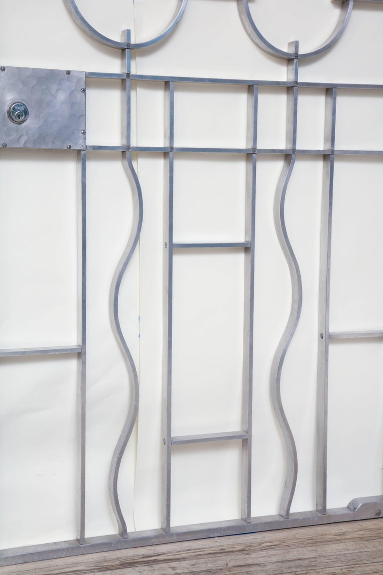 Aluminum Wendell August Gates Architectural Art Deco Forged Aluminium For Sale