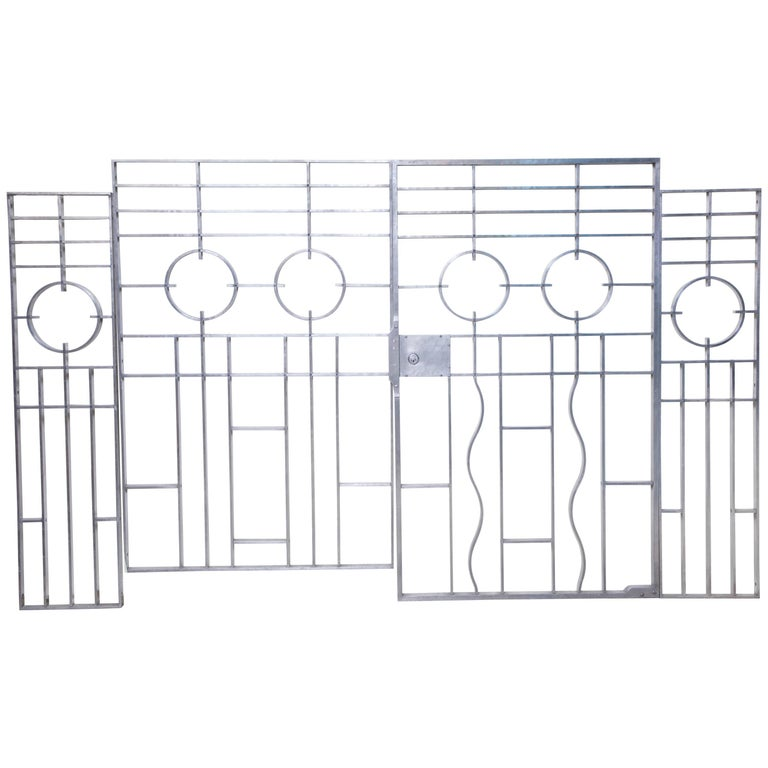 Wendell August Gates Architectural Art Deco Forged Aluminium For Sale
