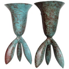Wendell Castle Cast Bronze Footed Vessels