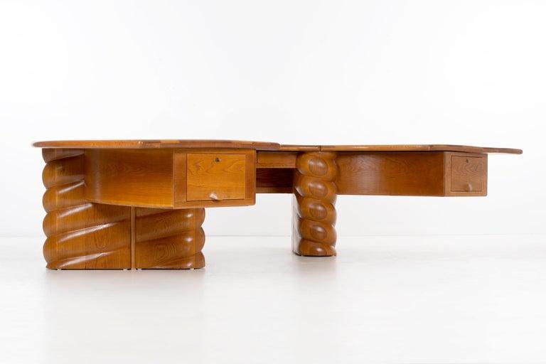 Mid-Century Modern Wendell Castle Monumental Desk For Sale