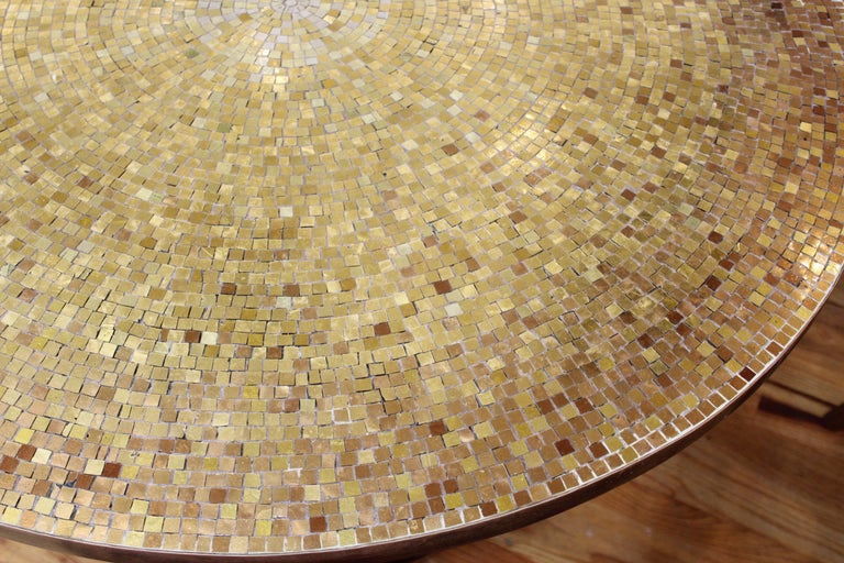 Wendell Castle Style Mid-Century Modern Center Table with Gold Mosaic Top For Sale 4
