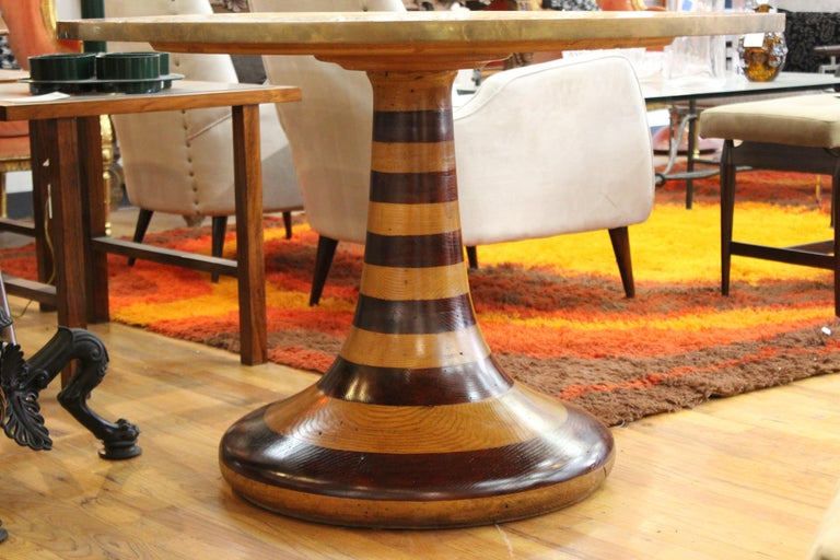 Wendell Castle Style Mid-Century Modern Center Table with Gold Mosaic Top For Sale 1