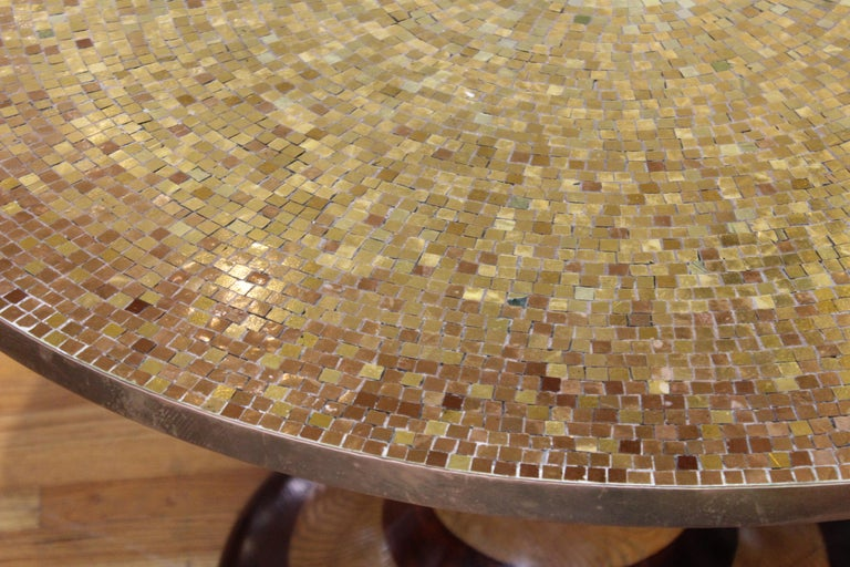Wendell Castle Style Mid-Century Modern Center Table with Gold Mosaic Top For Sale 2