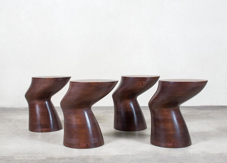 American Wendell Castle, Through the Dark Table, Rosewood, Walnut, Wood, Brown, 2011