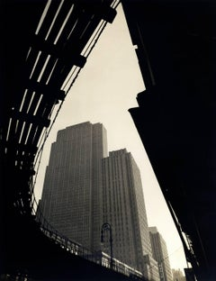 Wendell MacRae - Rockefeller Center, Seen from below the Sixth Avenue El