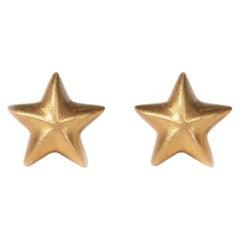 Wendy Brandes 18K Yellow Gold Star Stud Earrings