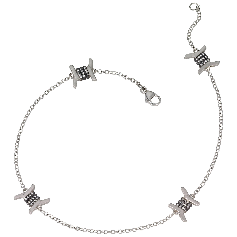 Wendy Brandes Barbed Wire Diamond and Platinum Ankle Punk Ankle Bracelet/Anklet