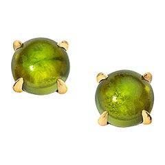 Wendy Brandes Cabochon October Birthstone Gemstone Tourmaline Stud Earrings