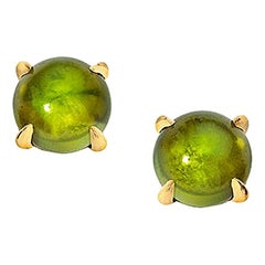 Wendy Brandes Cabochon October Birthstone Gemstone Tourmaline Stud Earrings