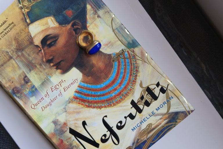 Wendy Brandes Nefertiti-Inspired Lapis Lazuli Poison Ring For Sale 4