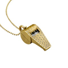 "Wendy Brandes ""Whistle Blower"" Over 1 Oz. Gold and Diamond Pendant"