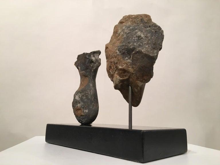 Modern Wendy Hendelman Alabaster Head and Torso Sculpture, 2015 For Sale