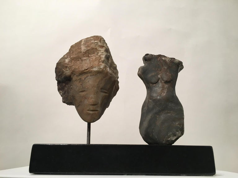 Wendy Hendelman Alabaster Head and Torso Sculpture, 2015 In Excellent Condition For Sale In New York, NY