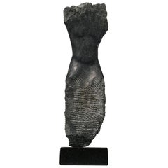 Wendy Hendelman Black Alabaster Torso Sculpture, 2017