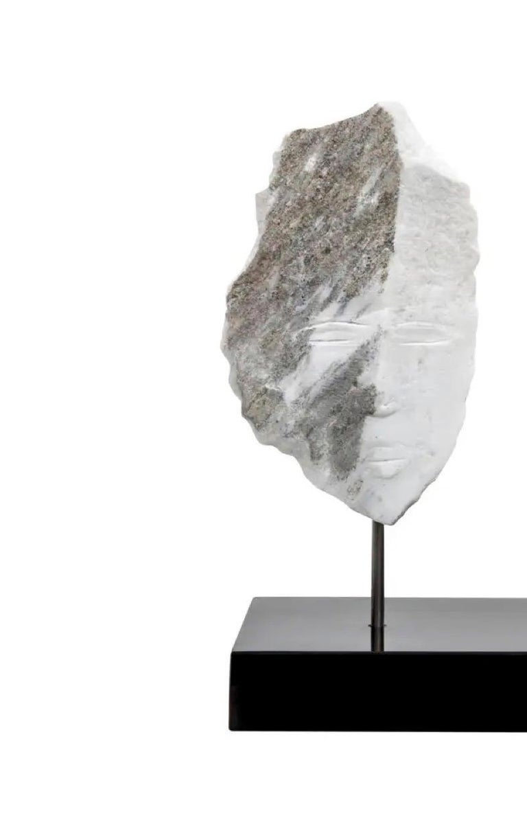 Modern Wendy Hendelman Marble Head and Torso Sculpture, 2020 For Sale