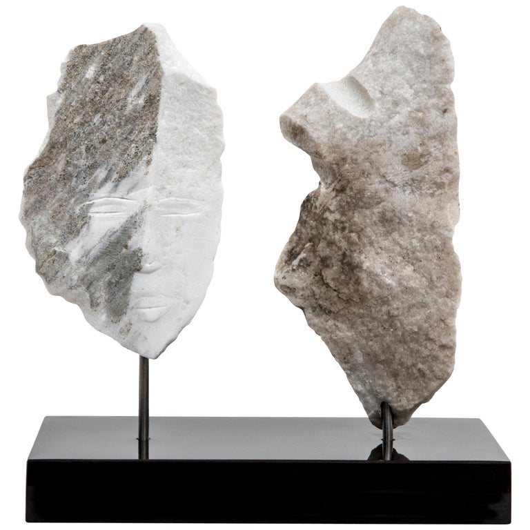 Wendy Hendelman Marble Head and Torso Sculpture, 2020 For Sale