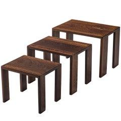 Dutch Wengé Nesting Tables
